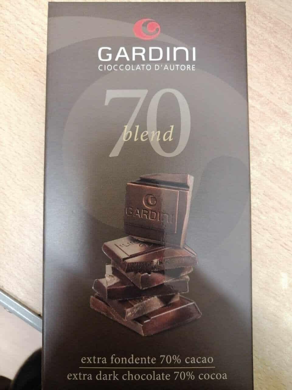 GARDINI – Tavoletta cioccolato extra fondente 70%gr.80 – Zanieri Dolciumi